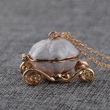 Casella Pendant di apertura della collana della collana del metallo della Cinderella della zucca del Locket d'imitazione del carrello