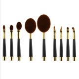 Professional 9PCS Golf Club Maquillage Brosse en forme de Fondation Eyebrow Eyeliner Lip Facial Makeup Oval Brushes pour Lady Girl