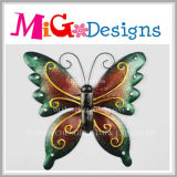 Decoração bonita da parede da borboleta do metal e do vidro