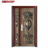 Puerta de entrada principal de acero de la buena calidad TPS-104