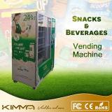 Latte e distributore automatico freddi del popcorn con il ricettore della moneta