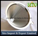 Filtre à cône en acier inoxydable, filtre à café perforé