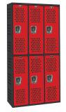 Sport-Speicher-Schließfächer mit 6 Türen befestigen