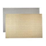 Zilveren 8X8 TextielPlacemat voor Tafelblad