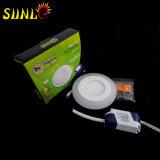 Dimmable LED encastré au plafond Panneau Lumières ronde