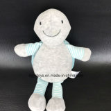 Grey and Blue Turtle Plush Rattle Baby Toy
