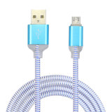 Micro cavo del USB con la carica universale dell'indicatore luminoso e cavo di sincronizzazione per il Android