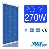 インドの市場のためのドイツの品質270W 60cellsの多太陽電池パネル