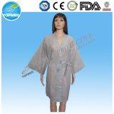 Wegwerf-PP/SMS/PE Robe-Vliesstoff-Kimono