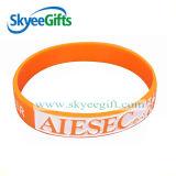 Wristband del braccialetto 100% del silicone di abitudine/elastico/silicone per la promozione