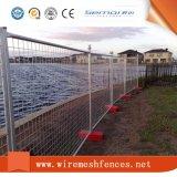 Removíveis galvanizados então pulverizam a cerca provisória do revestimento para a segurança de construção