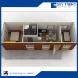 Conteneur de vie modulaire appartement avec chambre à coucher et salle de bains