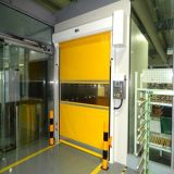 PVC штарки ролика продукции фабрики складывает вверх высокоскоростную дверь ролика (Hz-HSD02)