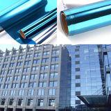 Película arquitectónica del edificio de la plata del aislante de calor de la película solar azul de la ventana