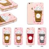 Geval van de Telefoon van het Kristal van PC van de Fles van het Parfum van de Wijn van lovertjes het Transparante voor iPhone 7 7s 6 6s plus
