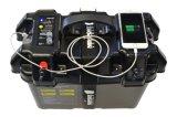Trolling Motor Case Power Center Soporte de Batería Fishing Boat Box Disyuntor