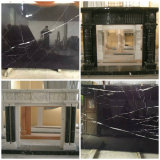 Mattonelle nere di marmo nere di Marquina delle mattonelle di pavimento di Nero Marquina 40X40