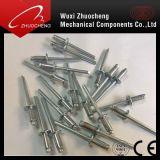 Alta resistência DIN7337 Alumínio de aço Opentype Reboque cego de cabeça de abóbada