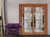 Хорошая тепло и звукоизоляция алюминия из закаленного стекла боковой сдвижной двери