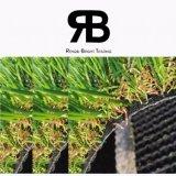 Hierba artificial del color del paisaje cuatro de la decoración 35m m del jardín/césped artificial/hierba sintetizada