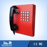 Telefono pubblico, telefono di servizio corazzato del cavo, telefono di guida della Banca