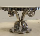 贅沢で美しいRondのステンレス鋼の食堂の大理石表