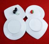 Het zuivere Witte Vaatwerk van de Platen van de Manier Vierkante Ceramische