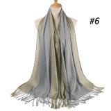 Ouro Preto e branco lenço de algodão poliéster novo estilo de banda de lenço de crimpagem turbante de cabelo