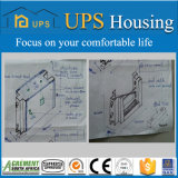 콘크리트는 최신 직류 전기를 통한 가벼운 강철 건축 별장에서 건축해 거품이 일었다