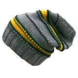 Chapéu feito malha POM de POM com feito malha no projeto NTD061