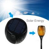Antorcha de llama el parpadeo de luz solar 96 LED con Stick para jardín al aire libre