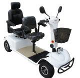 二重シートが付いている四輪800Wブラシの電気スクーター