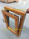 ヨーロッパ式の純木のアルミニウム傾きおよび回転Windows