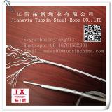 PA PU recubierto de PVC PE Electro Galvanzied cuerda de alambre de acero de 6*7-5mm