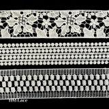 정연한 크로셰 뜨개질 레이스 손질, 얇은 레이스 훈장 국경, 손질 하숙인 L146