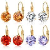 De nieuwe Oorring van de Juwelen van het Kristal van de Manier Gele Goud Geplateerde voor Meisjes