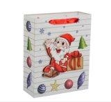 Multa por grosso e personalizados de Véspera de Natal de saco com padrão de Papai Noel, saco de presentes de Natal em stock