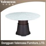 Домашняя мебель из темного мрамора верхней части обеденный стол обеденный стол из дерева