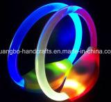 Kundenspezifisches Polyesterblinkende LED Wristbands