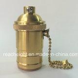 Edison Brass Lampholder E26 E27 Vintage Socket with Knob Switch