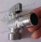 Латунный шариковый клапан угла (YD-5033)