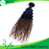 자연적인 까만 비꼬인 꼬부라진 브라질 Virgin 인간적인 Remy 머리 가발