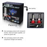 Temperatura de cor opcional de brilho 3000K, 6500K 8000lm 24V faróis LED H4