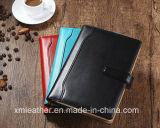 Livre d'exercices en cuir portable pour ordinateur portable avec multicolore