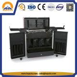 Toolbox van het Aluminium van de fabriek Afsluitbare met 4 Dienbladen & Zakken