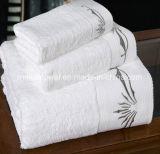 100% coton solide Hôtel de luxe Serviette de bain, serviettes blanches