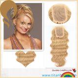 Бразильская часть человеческих волос Remy с волосами младенца вручную связала