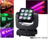 Kopf-Matrix der Erschütterung-9PCS*10W für Stadiums-Licht der Disco-Partei-LED