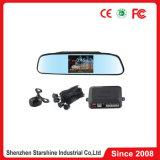 Espelho de 4,3 polegadas carro câmara de Ré e Sensor de Estacionamento