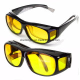 Visione notturna UV di protezione di HD degli occhiali da sole unisex degli obiettivi che guida gli occhiali di protezione di sport che guidano i vetri
